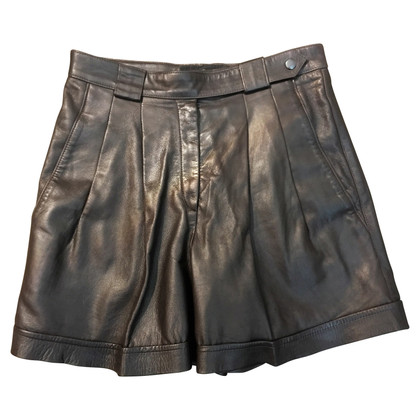Marc Cain High Waist Leather Shorts