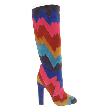 Jimmy Choo Wildleder-Stiefel in Multicolor