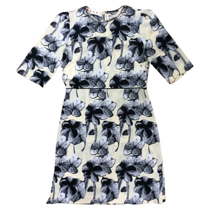 Marni Silk dress with a floral pattern