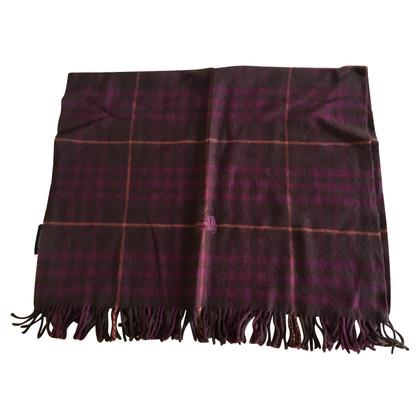 Burberry wool scarf in dark purple and black