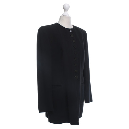 Giorgio Armani Long blazer in black