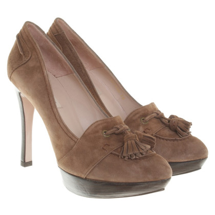 Pura Lopez Plateau pumps Brown