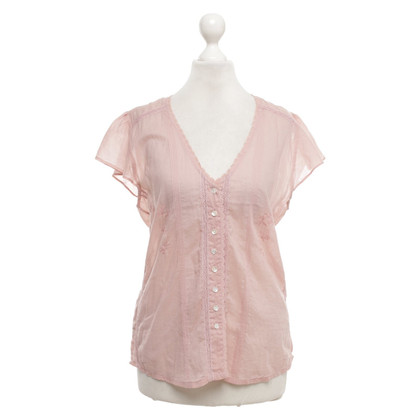 Topshop Short sleeve blouse in pink