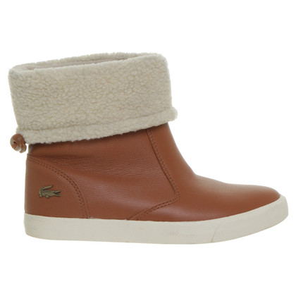 Lacoste Leather boots in Brown
