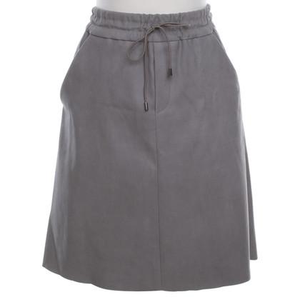 Andere merken Schacky & Jones - lederen rok in grijs