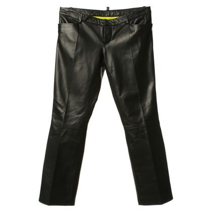 Dsquared2 Lederen broek in zwart