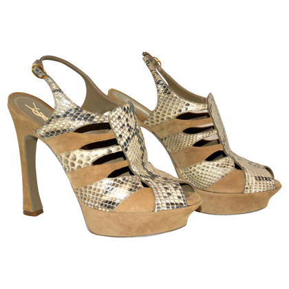 Yves Saint Laurent Sandals with reptile pattern
