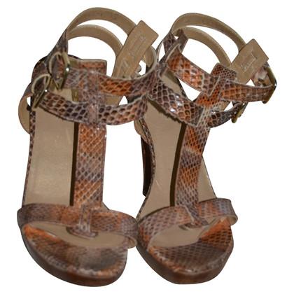 Stuart Weitzman Sandals with reptile embossing