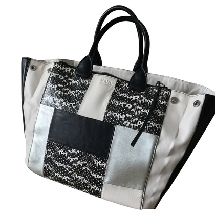 Karl Lagerfeld Shopper aus Materialmix