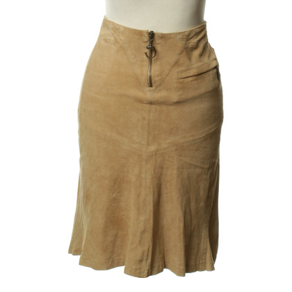Just Cavalli Leather skirt in beige