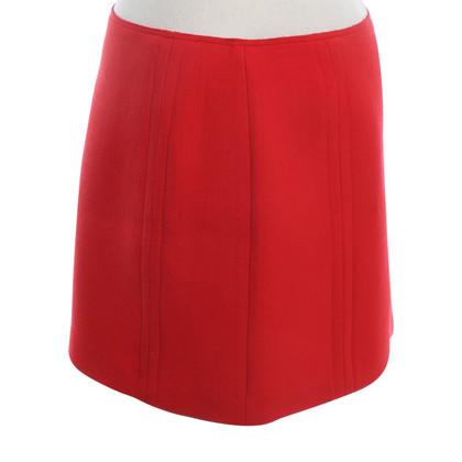Jil Sander rok in rood