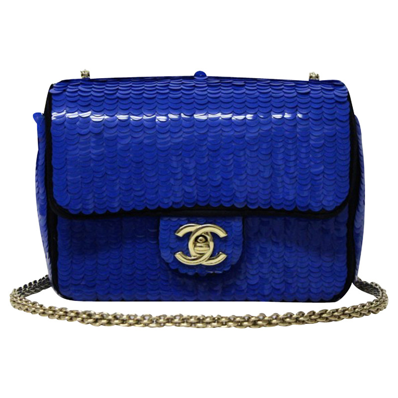 Chanel Mini Paillettes bluette