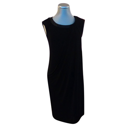 Max & Co Black dress with leather trim