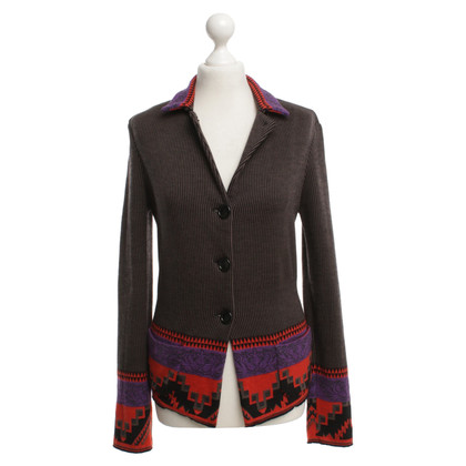 Etro Knitted blazer with pattern