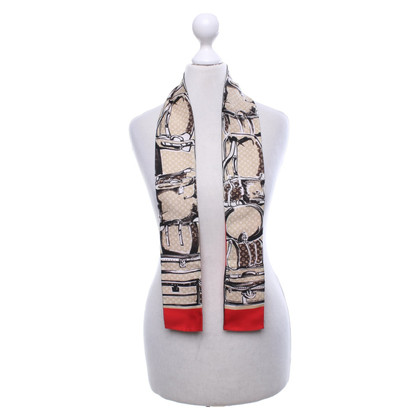 Louis Vuitton silk scarf with monogram pattern