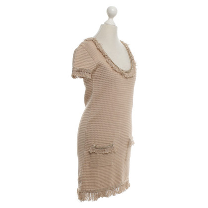Elisabetta Franchi Knit dress in beige / gold