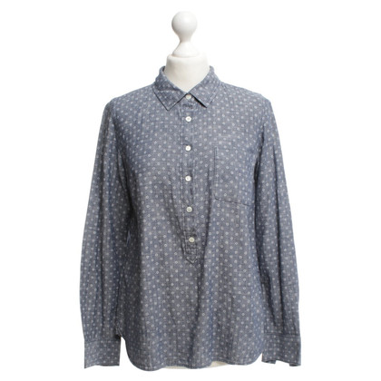 J. Crew Shirt blouse with polka dots