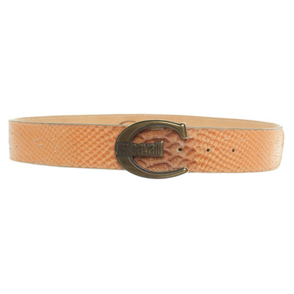 Just Cavalli Belt in reptile finish