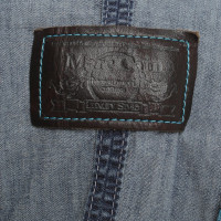 Marc Cain Short jeans jacket in blue