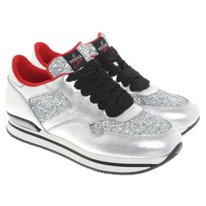 Hogan Sneakers in look metallico