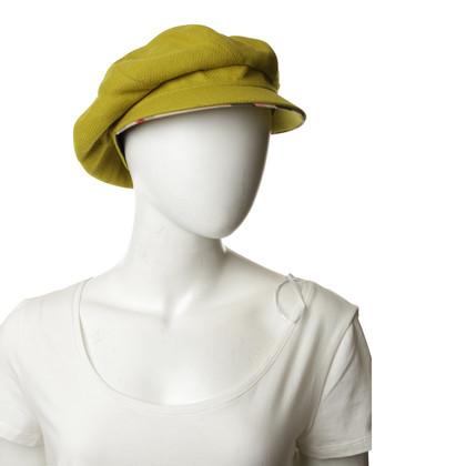 Burberry Cappello di palloncino in giallo-verde