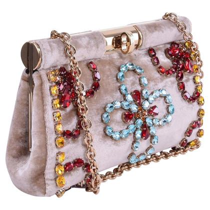 Dolce & Gabbana clutch con cristalli