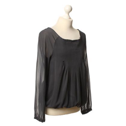 Patrizia Pepe Silk blouse in grey