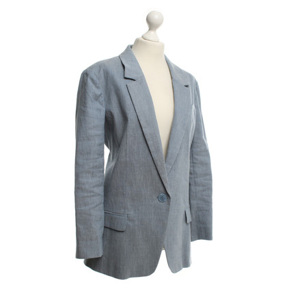 By Malene Birger Light blue blazer made of linen mixture