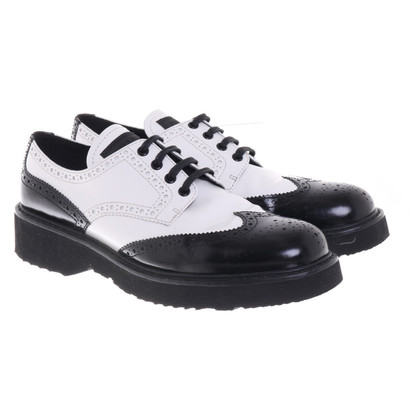 Prada Lace-up shoes in black and white