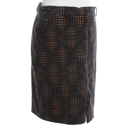 Fendi Velvet skirt with pattern