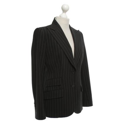 Dolce & Gabbana Blazer gessato realizzato in lana vergine