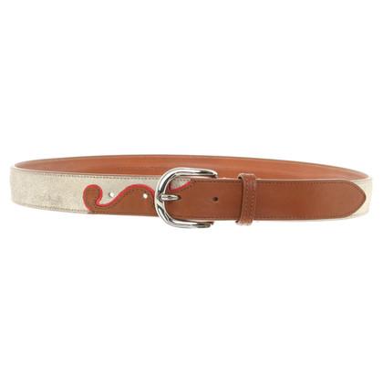 Isabel Marant Etoile Leather belt with effect coating