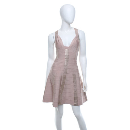 Hervé Léger Dress in rosé