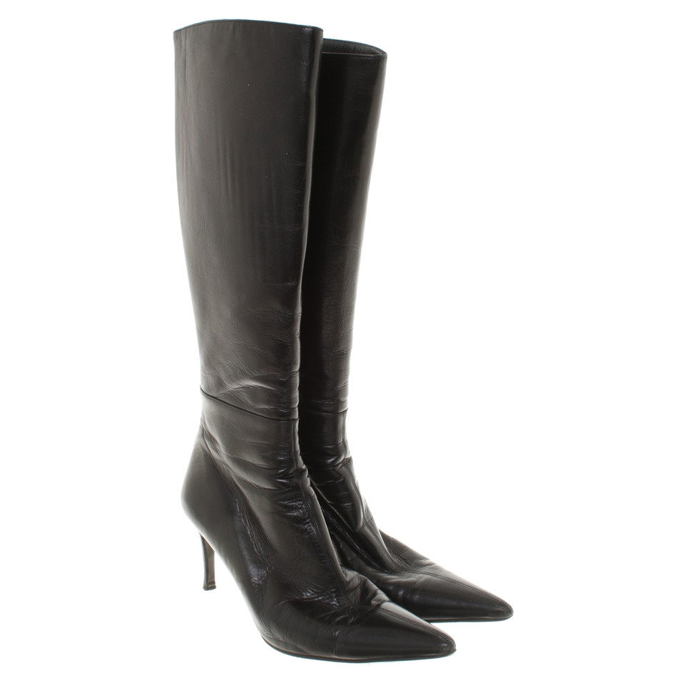 Gucci Black boots of smooth leather