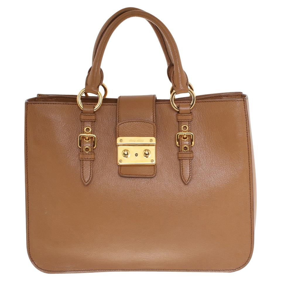 miu miu handtasche in braun second hand miu miu handtasche in braun gebraucht kaufen f r 579. Black Bedroom Furniture Sets. Home Design Ideas