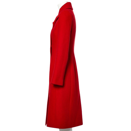 Dolce & Gabbana Red wool/cashmere coat