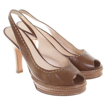 Prada Slingbacks in Brown
