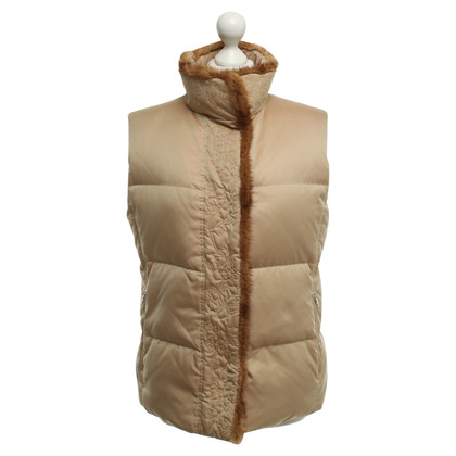 Bogner Down vest in gold brown
