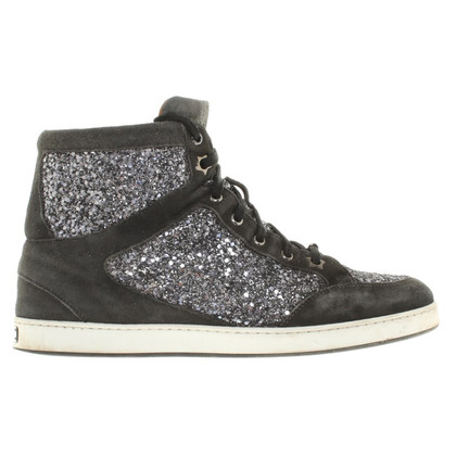 Jimmy Choo Sneakers with glitter trim