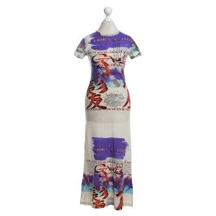 Jean Paul Gaultier Kleid mit Motiv-Print