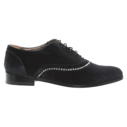 Lanvin Lace up Velvet