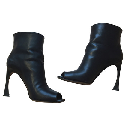 Christian Dior Peeptoe ankle boots
