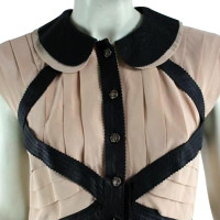 Chanel Silk with lambs leather dress