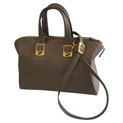 Fendi Handtasche aus Straußenleder