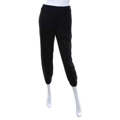 Helmut Lang Pantaloni di lana in nero