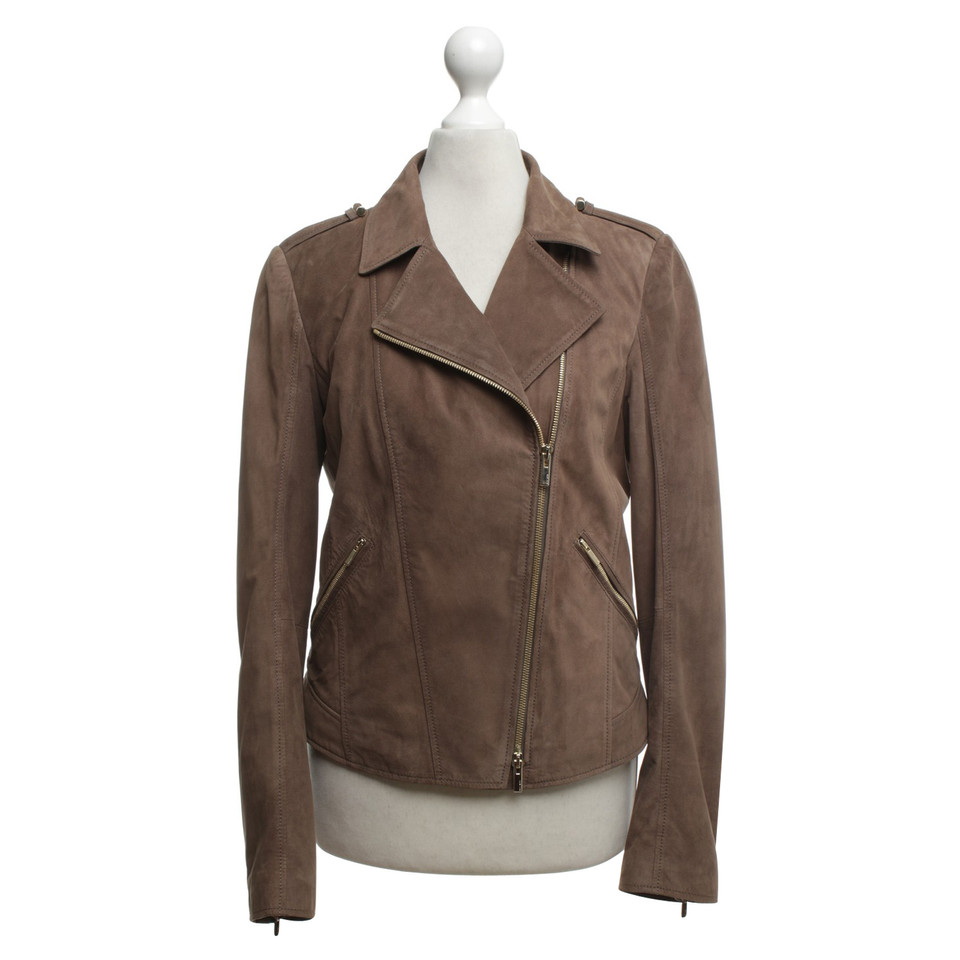 hugo boss lederjacke in taupe second hand hugo boss lederjacke in taupe gebraucht kaufen f r. Black Bedroom Furniture Sets. Home Design Ideas