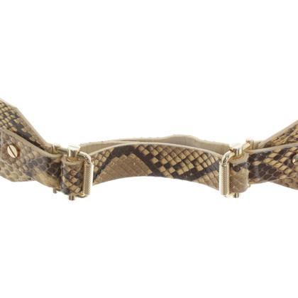 Kaviar Gauche Gürtel aus Schlangenleder