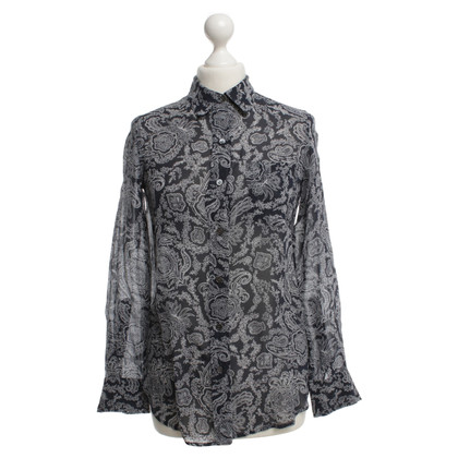 Theory Silk blouse with pattern
