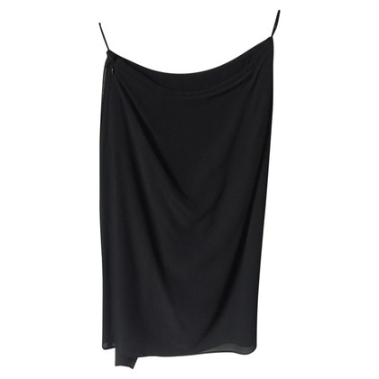 Max Mara Black silk skirt