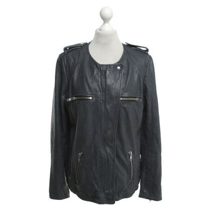 Isabel Marant Leather jacket in grey